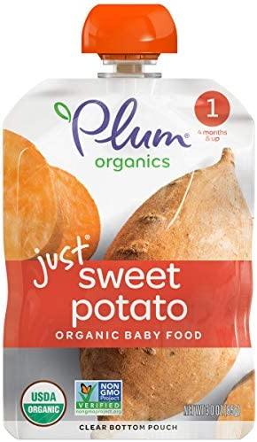 Plum Organics Stage 1 Organic Baby Food Sweet Potato Puree 3 Ounce Pouch Pack of 6 product image