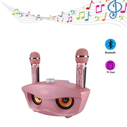 Tosuny Bluetooth4.2 Karaoke-luidsprekers Home Karaoke met 2 microfoons 10 meter transmissieafstand