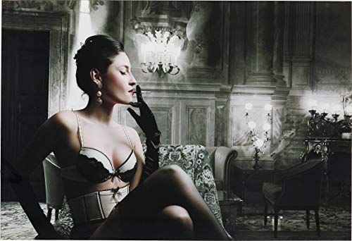 Kare Design Bild Glas Dessous Lady 80x120cm, rechteckiges Glasbild mit Motiv, Frau in Dessous Bild, (H/B/T) 80x120x4cm