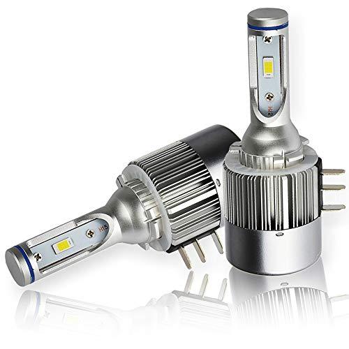 Confezione da due lampadine LED H15 36W CANBUS 6500K per fari e luci diurne e abbaglianti, una perfetta integrazione in plug and play, senza messaggio di errore su ODB - una garanzia di 18 mesi