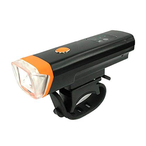 Bicycle Flashlight Anti-Glare Bicycle Light USB Rechargeable Bicycle Headlight,M2 Orange Taillight