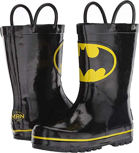 Favorite Characters Boy's 1BMF505 Batman Rain Boot (Toddler/Little Kid) Black 7 Toddler M