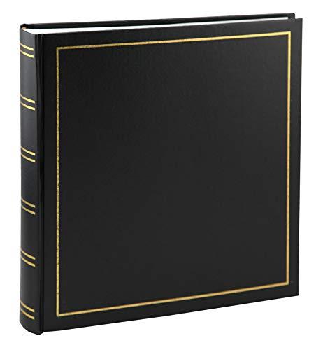 Tradition Fotoalbum in 35x36 cm 80 weiße Seiten Buchalbum Jumbo Foto Album: Farbe: Schwarz