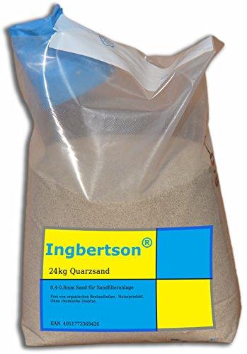 Ingbertson Quarzsand für Poolfilter Sandfilteranlagen (Quarzsand) (24kg, 0,4-0,8 mm)