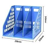 PP Materialfileボックスオフィスのファイルストレージ卓上ホルダ列バスケット本棚表のデータは、ラックの学生の使用マルチレイヤーフォルダのPP素材 ファイリングキャビネット (Size : 25.8*22.5*24CM)