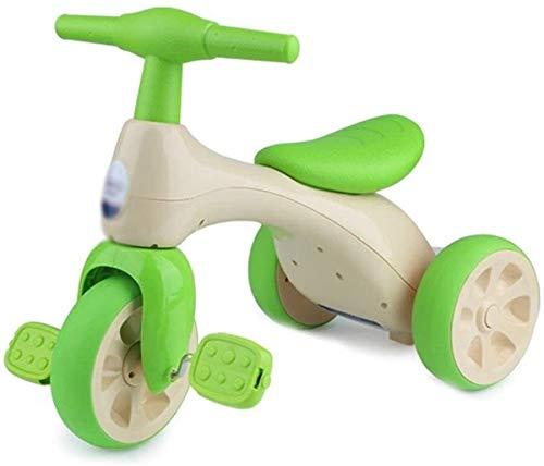 Xiaoyue Fahrräder Kinder Dreirad Fahrrad 3-8 Jahre alt Baby Kind Kinderwagen-Park-Garten Tricycle Junge Mädchen Üben Fahrrad (Farbe: Grün, Größe: 57x34x42cm) lalay