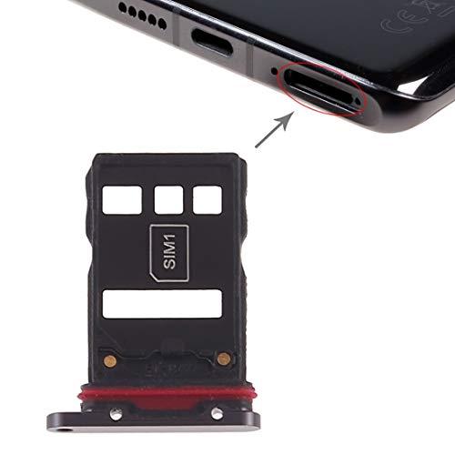 SIM Karten Adapter, kompatibel für Huawei P30 Pro, Tray für SIM-Card und NM-Card (Nano Memory Karte) Slot Halter Ersatz Nano SIM-Karten Holder in Schwarz