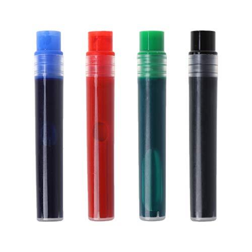 N/A/ HipyYAN - 10 recambios de repuesto para rotulador de pizarra blanca, borrador en seco, suministros escolares, papelería