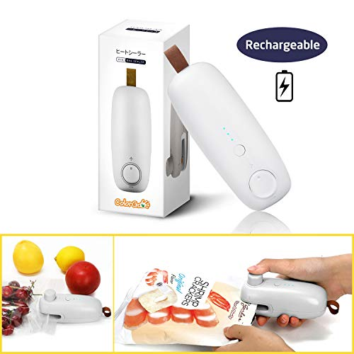 ColorGo Rechargeable Potato Chip Bag Sealer, USB Hand Held Mini Plastic Bag Heat Resealer for Food Storage [Patent Protect]