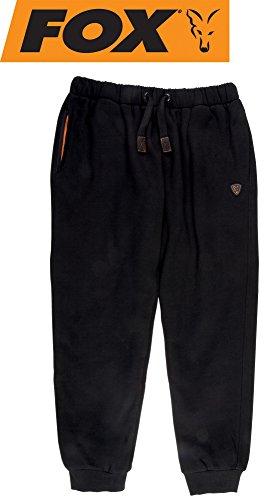 Fox Black/Orange Heavy Lined Joggers Angelhose, Anglerhose, Hose für Angler, Angelhosen, Anglerhosen, Jogginghose, Größe:M