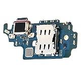 Puerto de Carga USB Conector de Cable para Sam-Sung S21 Ultra 5G G998U / G998D / G9980, Placa de Carga con Herramientas de Repuesto, Cable de Cargador USB para reparación Diaria del teléfono