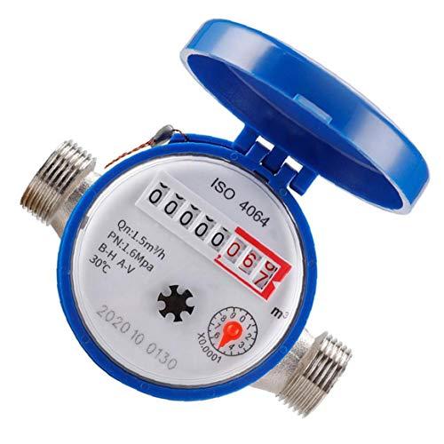 Sanfiyya Kaltwasserzähler-Durchflussmesser mit Beschlägen 15mm 1/2 Zoll Umdrehungszählern für die Nutzung zu Hause Garten-Accessoires