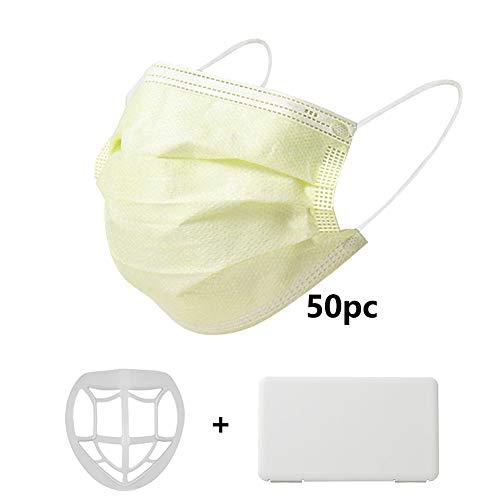 QISINI 50 Stück, gelbe Einweg-Gesichtsschutzaufkleber, seltene Farbe, hautfreundliche, zuverlässige Abdeckung, empfohlen für Männer und Frauen