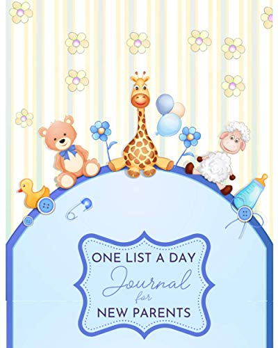 One List A Day Journal For New Parents: Memory Notebook With One Question A Day For 3 Years | Baby Boy Cover