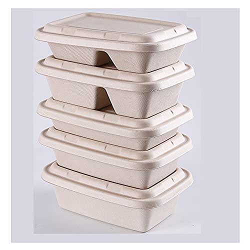 ZHMEHE Paquete De 10 Contenedores De Alimentos, Recipientes De Almacenamiento De Alimentos Reutilizables para Preparación De Comidas, para Microondas, Congelador