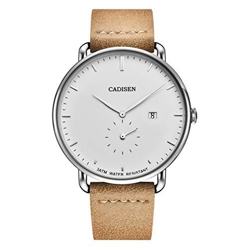 Tree-on-Life Multifunktionsuhr Kompatibel für Männer wasserdichte Quarzuhren C2037 Cadisen Uhren Kompatibel
