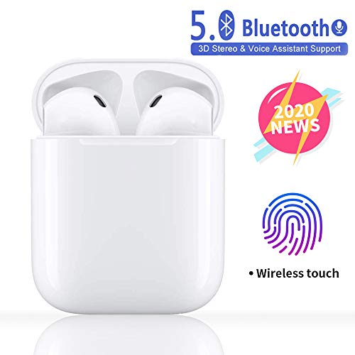 Bluetooth Kopfhörer 5.0,Stereo-Mini Kabellose Kopfhörer,Wasserdichtes Sport Bluetooth Kopfhörer In Ear mit Rauschunterdrückung Mikrofon,Kopfhörer für Apple Airpods Android/Samsung/iPhone