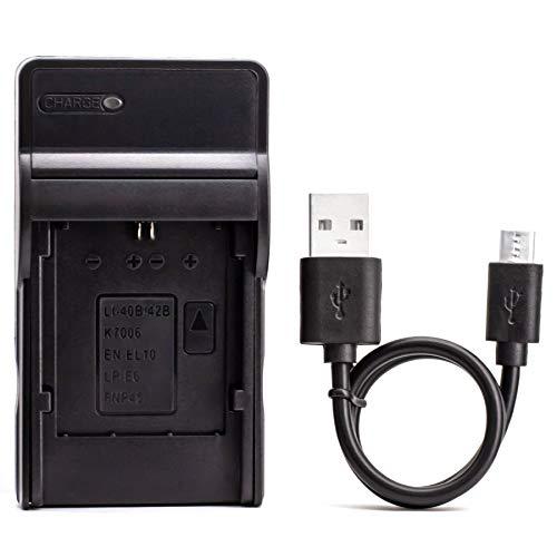 LP-E6 USB Cargador para Canon EOS 5D Mark II, EOS 5D Mark III, EOS 5D Mark2, EOS 5DS, EOS 5DS R, EOS 60D, EOS 60Da, EOS 6D, EOS 70D, EOS 7D, EOS 7D Mark II Cámara y Más