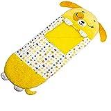 Fazeer Happy Nappers Play Almohada Saco de Dormir Almohada para niños Suave Plegable Saco de Dormir de Animales para niños Happy Napper para Navidad-Yellow