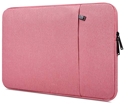 13-13.3 inch Waterpoof Laptop Sleeve Case for MacBook Pro 13.3 Retina, Dell XPS 13 7390 9380 9370/Inspiron 13 5000 7000, Acer Chromebook R 13, HP Samsung Carrying Tablet Bag, Pink