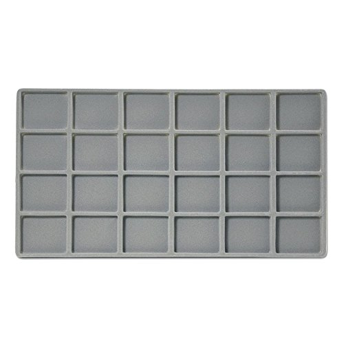JewelrySupply Flocked Insert Standard Size 4x6 Grey