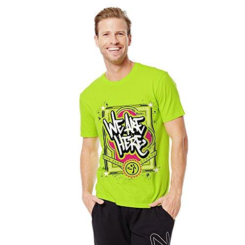Zumba Fitness We Are Here Camiseta, Unisex Adulto, We Are Here, Zumba Green