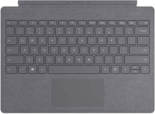 Microsoft Surface Pro Type Cover, Platinum Grey - QWERTY Keyboard