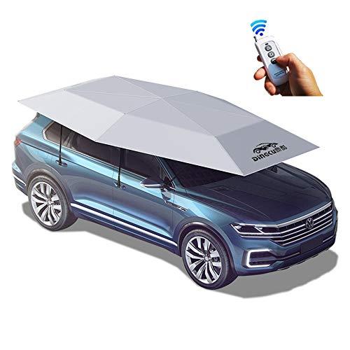 181 X 87 Inch Universal Automatic Car Ombrello, Parasole auto Tenda da auto, mobile pieghevole Carport, Grigio, Anti-UV, Anti-UV, Proof Wind, Snow, Storm