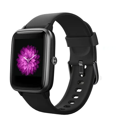 Smartwatch,Fitnessuhr mit Herzfrequenz und Schlafüberwachung 9 Sportmodus,5ATM Wasserdichter Fitness Tracker 1,3 Zoll Schrittzähler Männer Frauen Stoppuhr Kalorien SMS Anruferinnerung für iOS Android