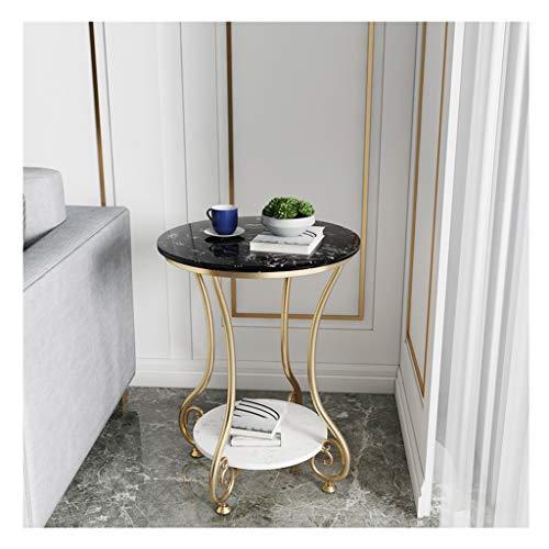 Boloi salontafel marmer textuur smeedijzer dubbele laag salontafel woonkamer bank bijzettafel kleine eettafel kleine eindtafel theetafel