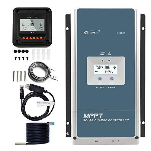 EPEVER 60A MPPT Charge Controller 48V 36V 24V 12V Auto, 60 amp Solar Controller MPPT Negative Ground Max 150V Input fit for Litium Sealed (AGM) Gel Flooded User Battery【Upgraded】