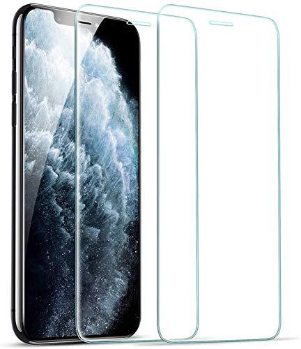 UNO ' 2 Unidades, Protector de Pantalla para iPhone XS, iPhone X Y iPhone 11 PRO, Antiarañazos, Antihuellas, Sin Burbujas, 9H,Resistente a los choques, HD,Vidrio Templado Ultra 3D y Transparent.