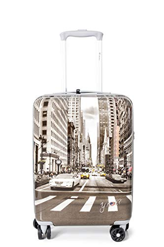 Valigia trolley Donna Y NOT? cabin size prc-1001f0 unica new york