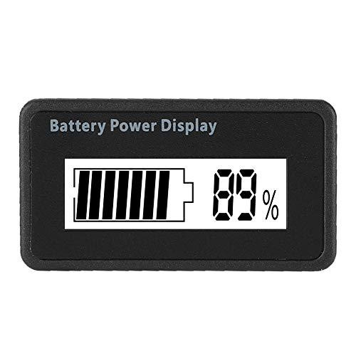 Batteriekapazitätsanzeige, 12-48V Universal Batterie LCD Batteriekapazitätsanzeige Tester Voltmeter(Weiße Lampe)