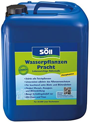 Söll 10888 WasserpflanzenPracht Düngepräparat für Teichpflanzen 5 l - phosphatfreies Teichpflegemittel mit Eisen und Titan zum Düngen von Wasserpflanzen Seerosen Teichrosen im Gartenteich