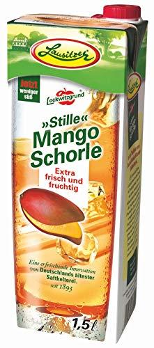 Lausitzer Stille Schorlen - Stille Mango Schorle 8 Pack a' 1,5Liter im praktischen Tetrapack