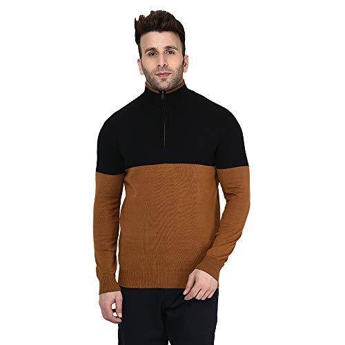 Armisto Men's Stylish Half Zipper in Block Colours/Winter Wear/Super Soft