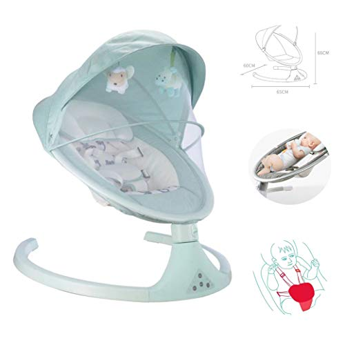Best Price LYXCM Baby Swing Chair, New-Born Baby Swing Chair and Bouncer with Songs and Sounds, Suitable from Birth