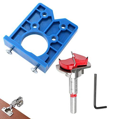 Mobiut Concealed Hinge Jig Forstner Bit Sets-35mm Hinge Hole Cutter for Cabinet Hinges and Mounting Plates