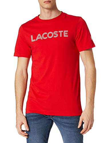 Lacoste TH9546 Camiseta, Pompier/Blanc, M para Hombre