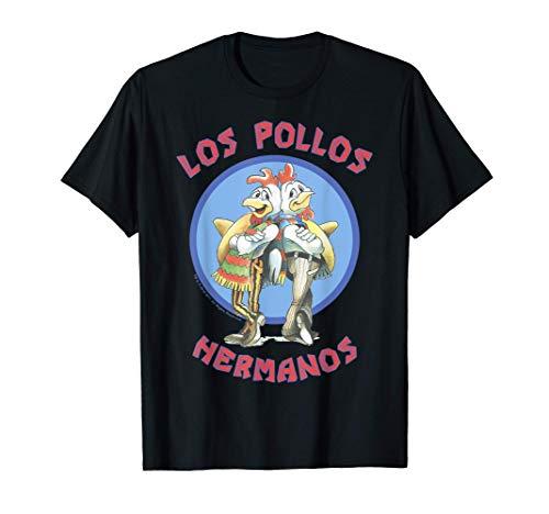 Breaking Bad Los Pollos Hermanos Back To Back Portrait Logo Maglietta