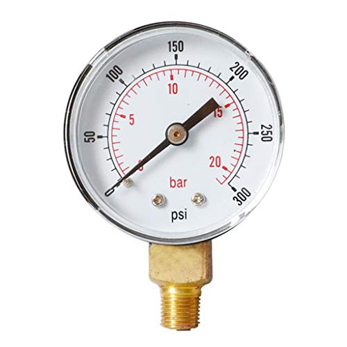 1/4 BSPT Druckluft-Manometer 0-20 Bar Manometer für Wasser-Luft-Ölmessgerät