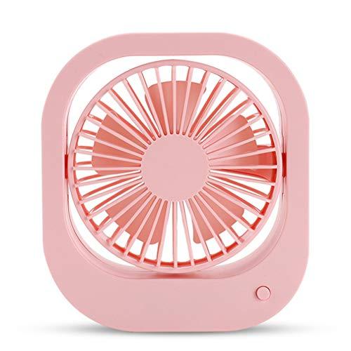 MEGAN USB-Ventilator, Mini-Tischventilator, tragbarer USB-Ventilator, 360-Grad-Drehrichtung, geräuscharmer Betrieb, für Camping-Picknick im Freien mit Schlafzimmer im Büro,Pink