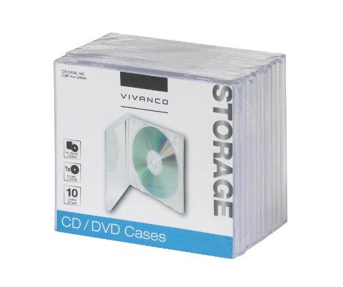 Vivanco CD/DVD Jewel Case (10-er Pack) transparent