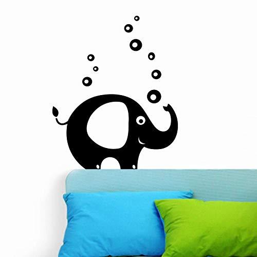 hetingyue Niedlicher Elefant mit Schaum Wandapplikation Art Deco abziehbares Vinyl Tapete Aufkleber Wohnzimmer Wandaufkleber Babyzimmer 219x142cm