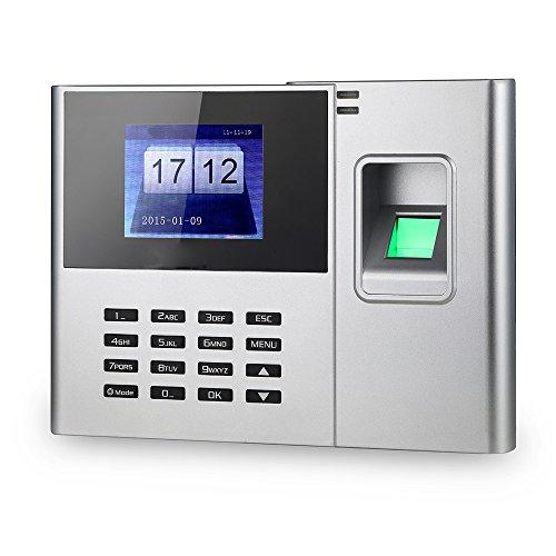 Aibecy Biometrischer Fingerabdruck-Passwort-Anwesenheits-Maschine Mitarbeiter Check-in Recorder 2,8-Zoll-TFT-LCD-Bildschirm DC 5V Zeiterfassung Uhr