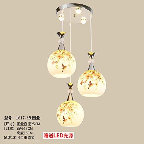 Luckyfree 1817-3 Creatieve moderne fashion hanger lampen plafondlamp kroonluchter slaapkamer woonkamer keuken, lichtbruin beugel bal bubble