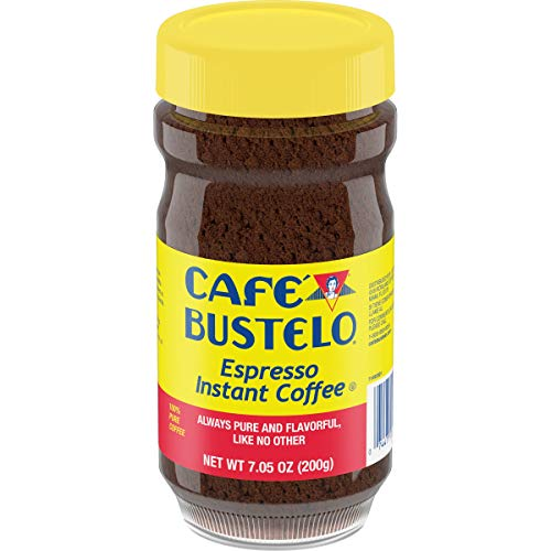 backpacking instant coffee packets Café Bustelo Espresso Style Instant Coffee, 7.05 Ounce (2 Pack)