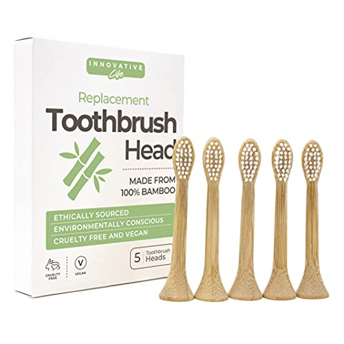 Bamboo Replacement Toothbrush Heads Compatible with Philips Sonicare, Electric Toothbrush Head, 5 Pack