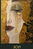 2021 Gustave Klimt: Agenda Semainier de Janvier à Décembre 2021 | Une Semaine par Double page | Les Larmes d'Or | Intérieur Sobre & Élégant | Organiseur | Planificateur